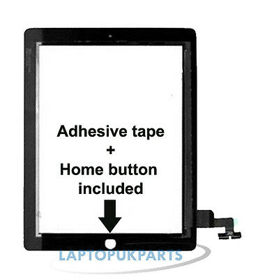 iPad 2 Replacement Touch Screen Digitizer with Home Button Assembly (Black)