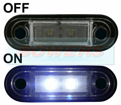 HELLA TYPE LED FLUSH FIT KELSA LIGHT BAR MARKER LAMP LIGHT 12v 24v WHITE LAML003