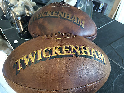 Vintage Leather Twickenham Rugby Ball England ball Rugby 2015 world cup gift