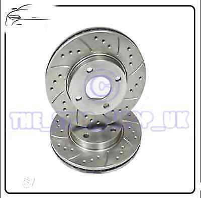 Audi 100 A4 A6 Seat Exeo Performance Drilled & Grooved Front Brake Discs