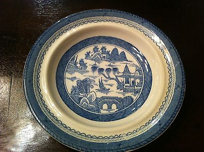 Woods Ware (Enoch Wood & Sons) Rim Cereal Bowl in Canton Blue