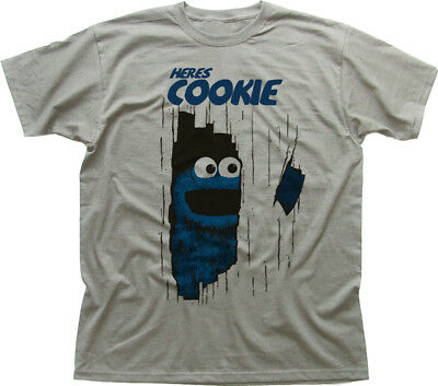 here's Johnny Cookie Monster Muppets The Shining funny printed t-shirt 9919