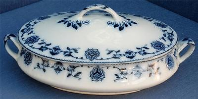 Vegetable Tureen in the Cashmere Pattern by Newport Pottery Co. C.1920+