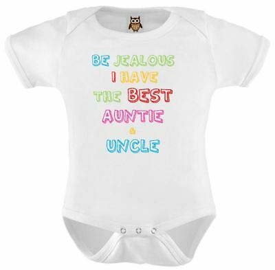 Personalised Baby Vest I Have The Best Auntie And Uncle Bodysuit Gift Birthday