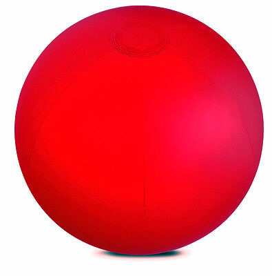 """INFLATABLE RED 10"""" BEACH BALL SWIMMING POOL PARTY HOLIDAY GARDEN KIDS TOY SEA"""