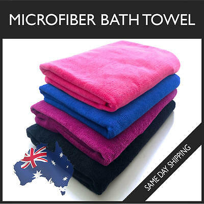 Microfiber Towel Bath Gym Sport Footy Travel Camping Swimming Beach Microfibre