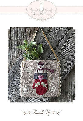BUNDLE UP SNOWMAN PUNCHNEEDLE PATTERN, From Bunny Hill Designs NEW