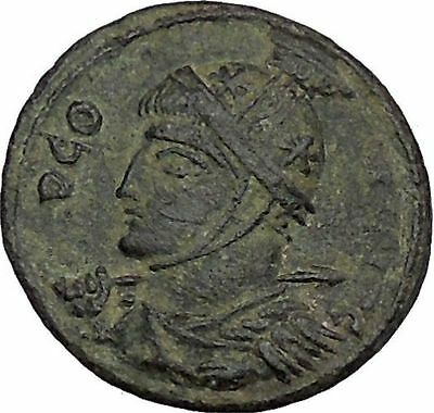 Constantine I The Great 318AD Ancient Roman Coin Two Victories w shield i45209