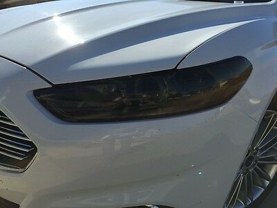 13-16 Ford Fusion Smoke Head Light Precut Tint Cover Smoked Overlays