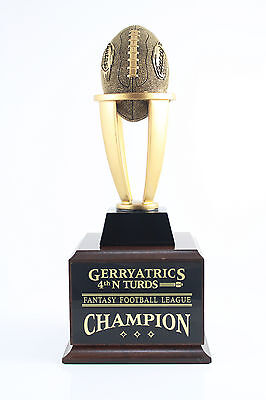 6 YEAR TOWER FANTASY FOOTBALL TROPHY - FREE ENGRAVING! SHIPS IN 1 DAY!