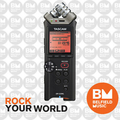 Tascam DR-22WL Portable Digital Handheld Recorder with Wifi DR22WL Hand Held -BM
