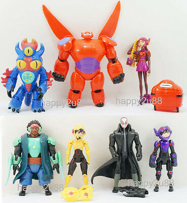 8pcs Disney Big Hero 6 Action Figure Toy Playset Hiro, Baymax, Fred etc. Gift