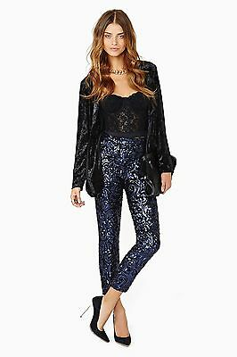 Lovers and Friends NWT Always Sequin Pants in Midnight Blue Sizes XS, S, M