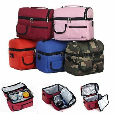 Travel Camping BBQ Picnic Lunch Insulated Cooler Cool ice bag Food Drink Carrier
