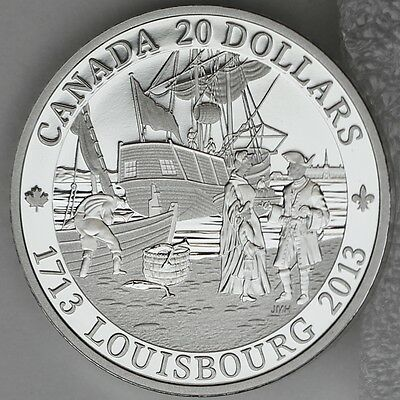Canada 2013 $20 300th Anniversary of Louisbourg 1 oz. Pure Silver Proof Coin