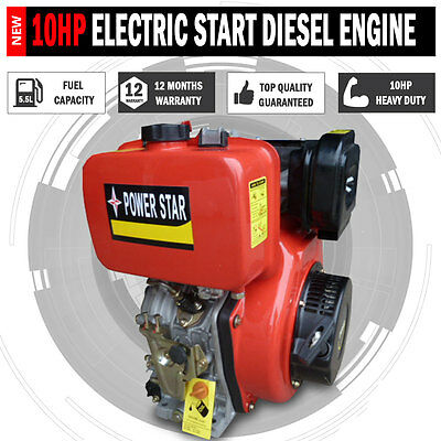 Electric Start 10 Hp Diesel Stationary Motor Engine