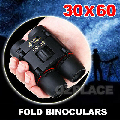 Premium H Coated Optics Telescope Night Vision Folding Binoculars Zoom 30x60