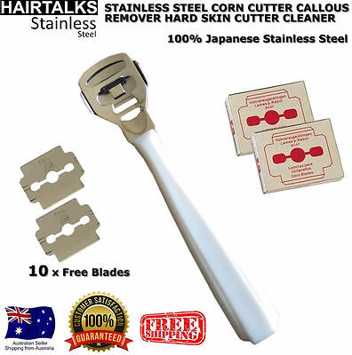 Stainless Steel Corn Cutter Callous Remover Hard Skin Cutter Cleaner New White