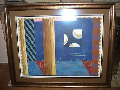 Large Signed Abstract Limited Edition Print Very Nice Unsure of Artist