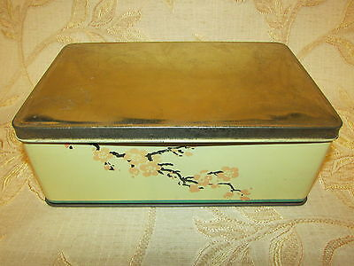 Large Antique Collectable Roocroft's Almond Nougat Tin Box - 1923