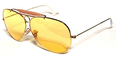 Ray Ban 3138 62 Shooter Gold Oro Yellow Giallo Ambermatic Customized Remix