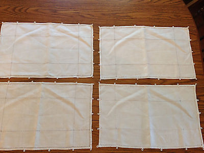 "Vintage Linen Set of 4 PLACEMATS 17"" X 10.75"""