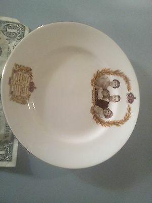 Snack Plate with King George VI, Queen Elizabeth, Coronation