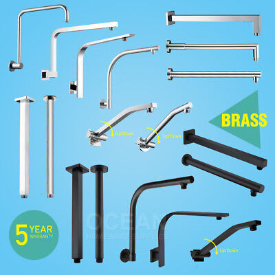 NEW Brass Chrome Swivel Adjustable Gooseneck Shower Wall Arm Extension For Head