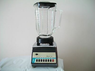 Vintage OSTER Osterizer 541 Galaxie VIII 8 Speed Blender  Chrome & Glass