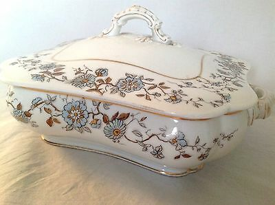 LIMOGES Haviland & Co R.B. Gray & Co Handled Dish w Lid MINT! Downton Abbey 1920