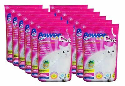 12x5= 60 L Power Cat Magic Silikat Katzenstreu Powercat Streu Energy Crystals