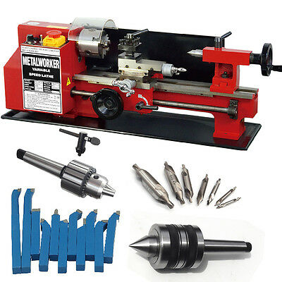 "SIEG C2 180x300mm (7""x12"") Variable Speed Mini Metal Hobby Lathe Auto Feed"