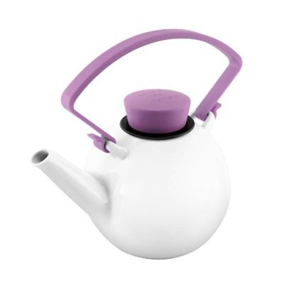 Qdo - Porcelain Tea Pot with Purple Clip Handle 1Ltr