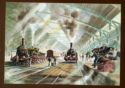 1985 Railway Postcard  with Bristol Temple Meads  Cancellation