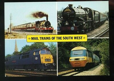Mail Trains of the South West Railway Postcard Mint