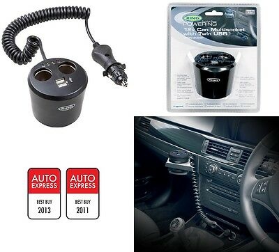 Ring In Car Multisocket Splitter And Usb Connection Adapter Fits 12V Rms10
