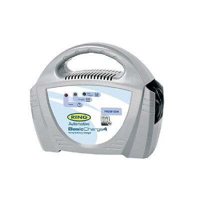 Ring 12 Volt 4 Amp Battery Charger With Led Charge Light Indicator RCB104