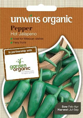 Unwins Pictorial Packet Vegetable Pepper Chilli Jalapeno (Organic) - 20 Seeds