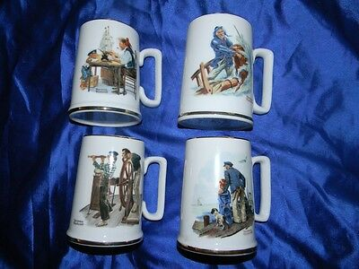 Norman Rockwell Mugs Lot 4 Nautical Mugs