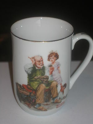 Norman Rockwell mug the gobbler Great condition Authentic Japan