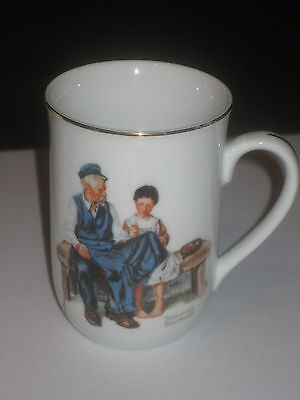 Norman Rockwell mug lighthouse keeper's daughter Great condition Authentic Japan