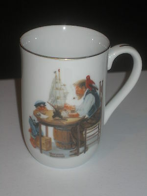 Norman Rockwell mug for a good boy Great condition Authentic Japan