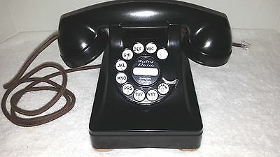 Antique Western Electric phone METAL case Model 302 ,fully restored