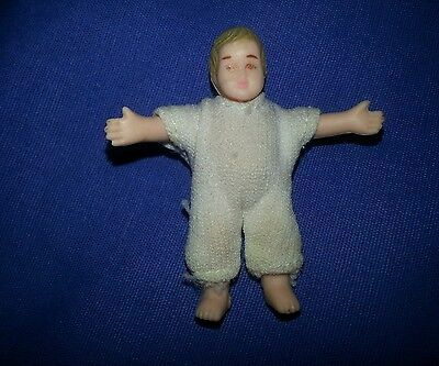 HORSMAN Dollhouse Family BABY INFANT DOLL Vintage 2 Inches Rare!