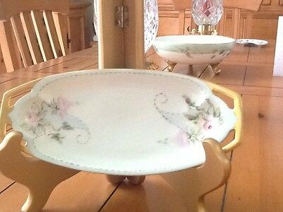 Antique Porcelain Hand Painted Vanity Tray From Germany
