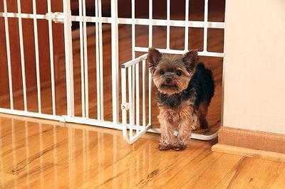 Dog Pet Gate Fence Carlson Mini Tuffy Metal Expandable Baby Safety Door New