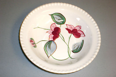 """Blue Ridge Southern Potteries Pink & Red Floral Serving Bowl 9"""""""