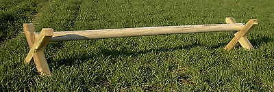 Rustic Timber Wood Pony Horse Show Jump Pole 3.6M (12Ft) Equestrian Fencing