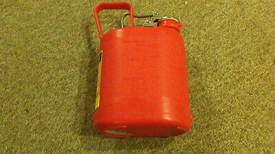 JUSTRITE 1GAL, 3.8L, OVAL STYLE, NON-METALLIC, SAFETY CAN, MODEL 14160 Mint Cond