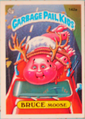 Garbage Pail Kids Card BRUCE MOOSE Series 4 #142a RARE 1986 Topps Chewing Gum